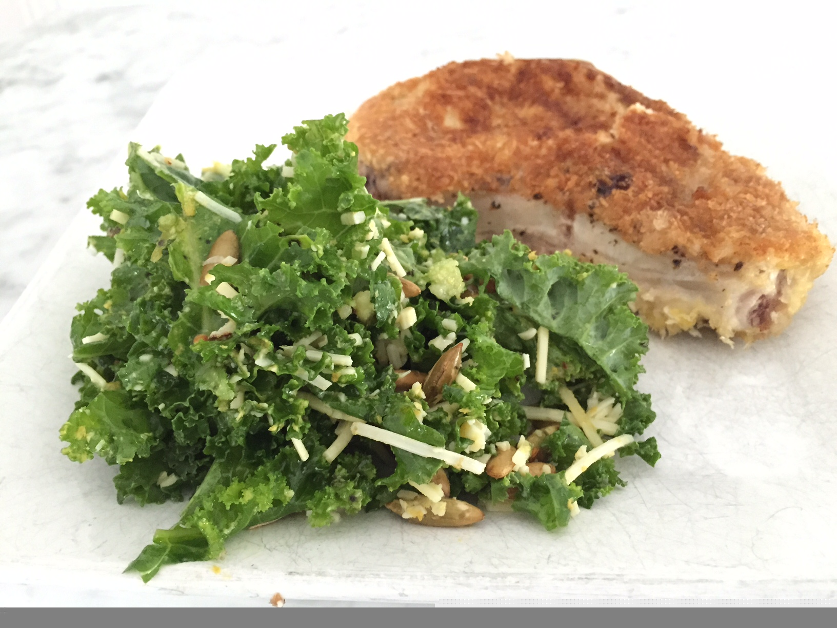 kale:pork chops